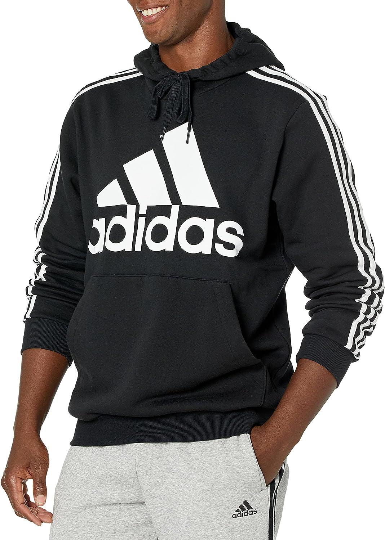 adidas Men's 3-Stripes Fleece Hooded Sweatshirt