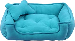 Fluffy's Luxurious Reversible Sky Blue Soft Red Dog/Cat Bed Polyster Filled(Export Quality)- Small