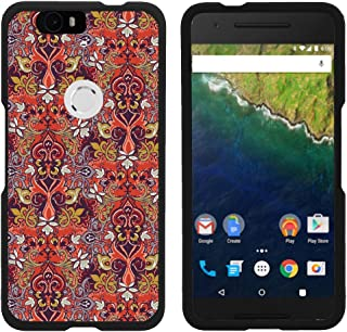 Compatible with Huawei Nexus 6P Case   Google Nexus 6P Case [Slim Duo] Ultra Slim Lightweight Matte Hard 2 Piece Cover Protector on Black by TurtleArmor - Red Gold Saint Pattern