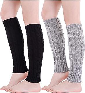 para Bailar Calentadores de piernas Cyan-Blau con Agujero en el tal/ón Tukistore Calentadores de Ballet para Mujer y ni/ña Ballet