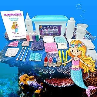 SLIMEMASTER Mermaid Slime Making Kit for Girls | DIY Kit Everything in One Box | Make Cloud, Fluffy and Glitter Slime