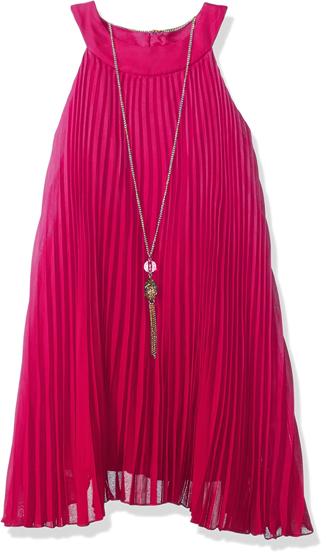 Tween Diva Girls' Pleated Casual Dress