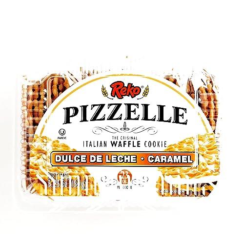 Reko Dulce De Leche Pizzelle Cookies 5.25 oz each (1 Item Per Order)