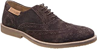 Mens Chatsworth Suede Oxford Brogue Lace Up Casual Shoes