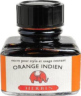 J. Herbin Fountain Pen Ink - 30 ml Bottled - Orange Indien