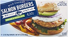 Whole Catch, Salmon Burgers, Poblano & Pepper Jack, 12.8 oz, (Frozen)