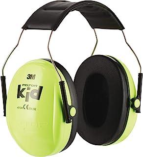 3M Peltor Kid Cache-oreilles vert fluo - Protection auditive pour enfants avec bandeau réglable pour un bruit jusqu'à 98dB...