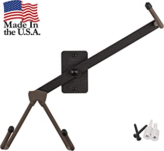 Ukulele Horizontal Wall Mount Stand for Violin Mandolin Ukele – Pinaple Concert Compatible – Safely Accessories without Case – String Swing Black CC15S-FW