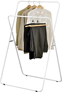 MyGift 56-Inch Folding Metal A-Frame Garment Display Rack, Retail Clothing Stand