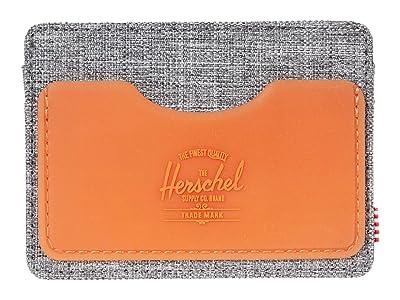 Herschel Supply Co. Charlie Rubber RFID (Raven Crosshatch/Vermillion Orange) Wallet