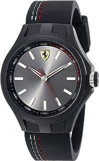 Ferrari Men's 830218 Pit Crew Analog Display Quartz Black Watch