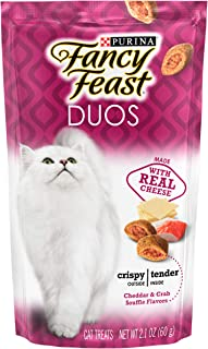 Purina Fancy Feast Duos Cheddar and Crab Soufflé Flavors, 59 gm