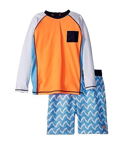 shade critters Wave Rashguard Set (Infant/Toddler) (Blue) Boy