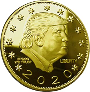 DONALD TRUMP KEEP AMERICA GREAT 2020 Gold Coin - 24K Gold Plated Commemorative Collectors Edition. Stunning Proof Coin In Acrylic Capsule. Trump Challenge Coin