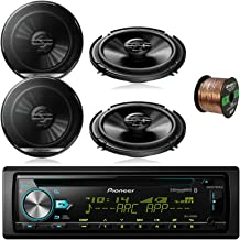 Pioneer DEH-S6000BS Car CD Player Receiver Bluetooth USB AUX Radio - Bundle Combo with 4X Pioneer TSG1620F 6.5