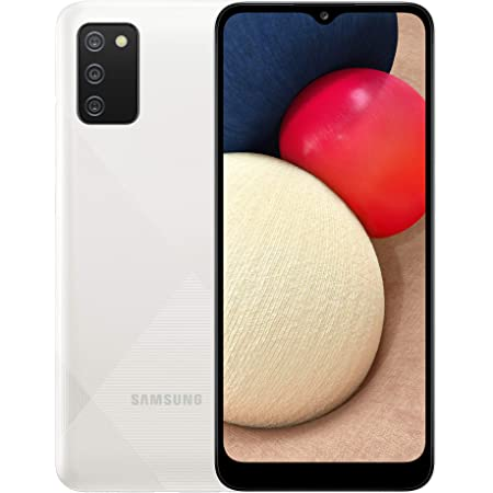 Samsung Galaxy A02s 4G Smartphone 6.5 Inch Infinity-V HD + Screen 3 Rear Cameras 3 GB RAM and 32 GB Expandable Internal Memory 5,000 mAh Battery and Fast Charge - White (UK Version)