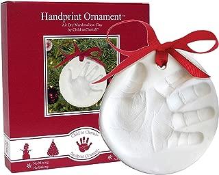 Child to Cherish Marshmallow Clay Baby Handprint or Footprint First Christmas Ornament Kit