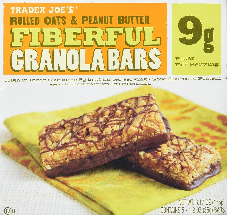 2 Max 68% OFF Boxes Trader Joe's Fiberful Max 54% OFF Granola Bars Peanut Rolled Oats