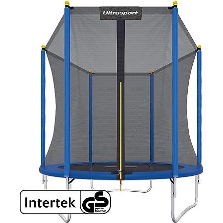 Ultrasport Cama elástica de jardín XL, de Exterior con Mucho Espacio y Elementos de Seguridad, diámetro: 305 cm, Capacidad de Carga : 150 kg, Set Completo