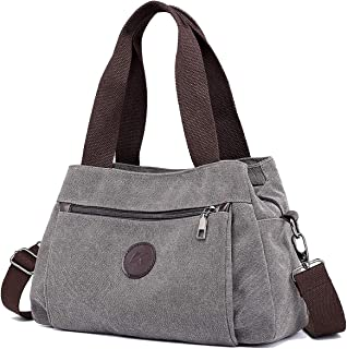 Hobo Handbags Canvas Crossbody Bag for Women, Multi Compartment Tote Purse Bags