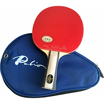 Palio Expert 2.0 Table Tennis Racket & Case - ITTF Approved - Flared - Intermediate Ping Pong, Racket, Paddle