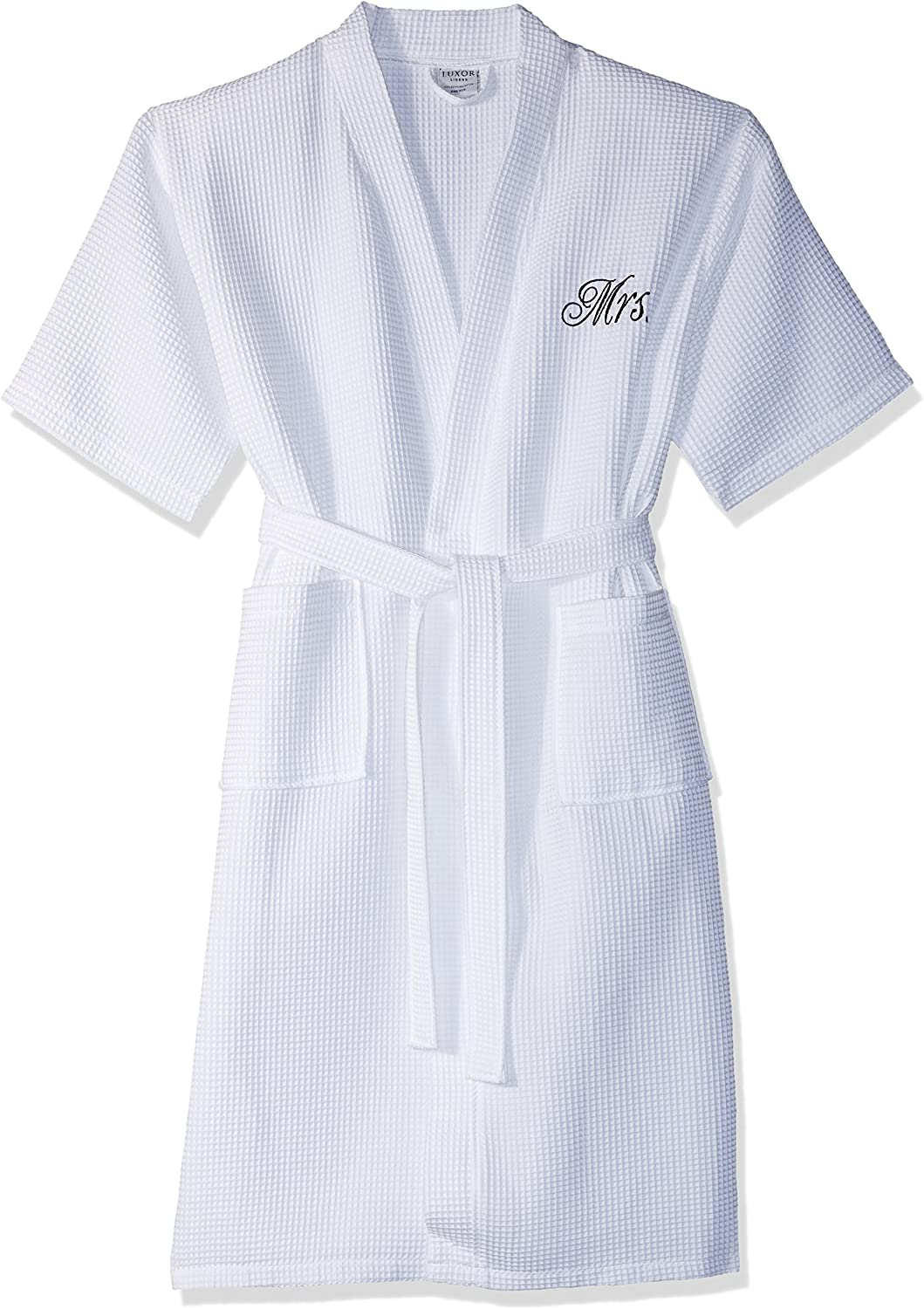Mr. Safety and trust Waffle Weave Bathrobe - 100% Ranking TOP13 Si Egyptian Cotton Unisex One