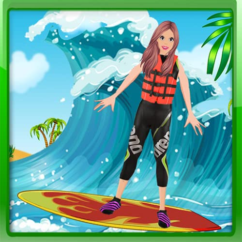 sandiger Surfer Strandsalon