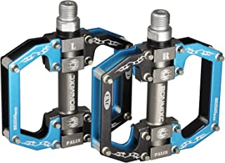 BONMIXC Mountain Bike Pedals 9/16 MTB BMX Dh Cycling Platform Pedals Sealed Bearing Bike Pedals