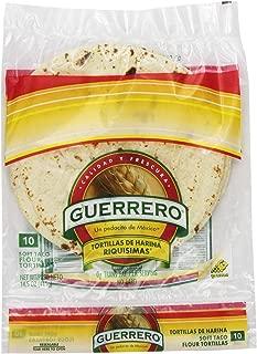 Guerrero Riquisimas Soft Taco Flour Tortillas | Trans Fat Free | Authentic, Small Size | 10 Count