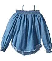 Hudson Kids - Chambray Smocked Top (Big Kids)