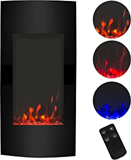 Best Choice Products SKY2950 38in 15000W Wall Mount Electric Fireplace Heater w/Remote Control, 3 Heat and Color Settings