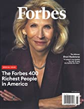Forbes Magazine October 31 2019 (THE FORBES 400 RICHEST PEOPLE IN AMERICA) Shari redstone cover