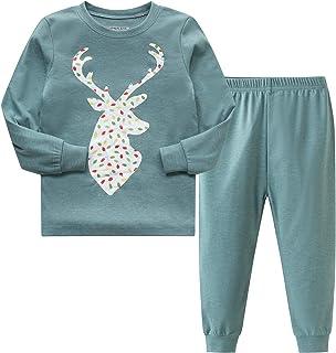 AMGLISE لباس خواب کریسمس لباس خواب پنبه ای کریسمس گوزن دختران پسر بچه ها Pjs کودک نوپا لباس خواب