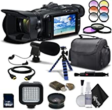 Canon VIXIA HF G21 Full HD Camcorder 2404C002 - Starting Out Bundle - with Wide Angle Lens, Filter Kit, Mic, Light, Tripod and Much More.