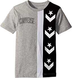 Converse Kids - Star Chevron Stripe Tee (Big Kids)