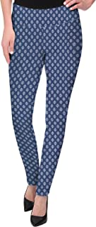 Womens Pull on Business Millennium Bootcut Skinny Pants with Prints
