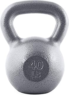 WF Athletic Supply Hammerstone Cast Iron Kettlebell - 13, 10-80 Pounds - Core Strength, Functional Fitness, and Weight Training Set - Free Weight, Equipment, Accessories