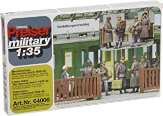 Preiser 64006 Military Former German Army WWII Unpainted 1/35 Home Leave Package(6) 1/35 Scale Military Model Figure