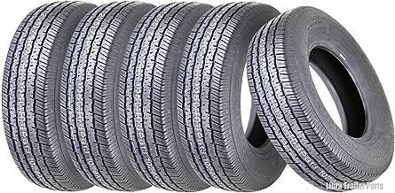 Set 5 Grand Ride Premium Trailer Tires ST205/75R14 / 8PR Load Range D Steel Belted Radial