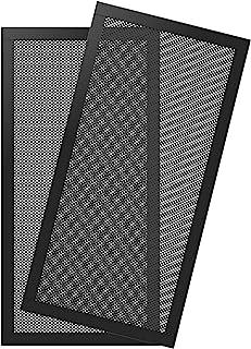 MoKo [2PZS] Filtro de Ventilador de PVC Antipolvo para Caja de Ordenador 120 x 240MM, Rejilla Cubierta de Ventilador con Marco de Goma Magnética de Aire Malla para Caja de Computadora - Negro