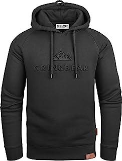Grin&Bear Herren Hoodie Slim fit Kapuzenpullover Kapuzenjacke mit gestempeltem Design Logo GEC540