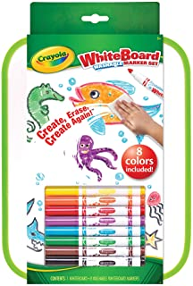 Crayola Whiteboard and 8 Washable Marker Set, Creativity on The Go