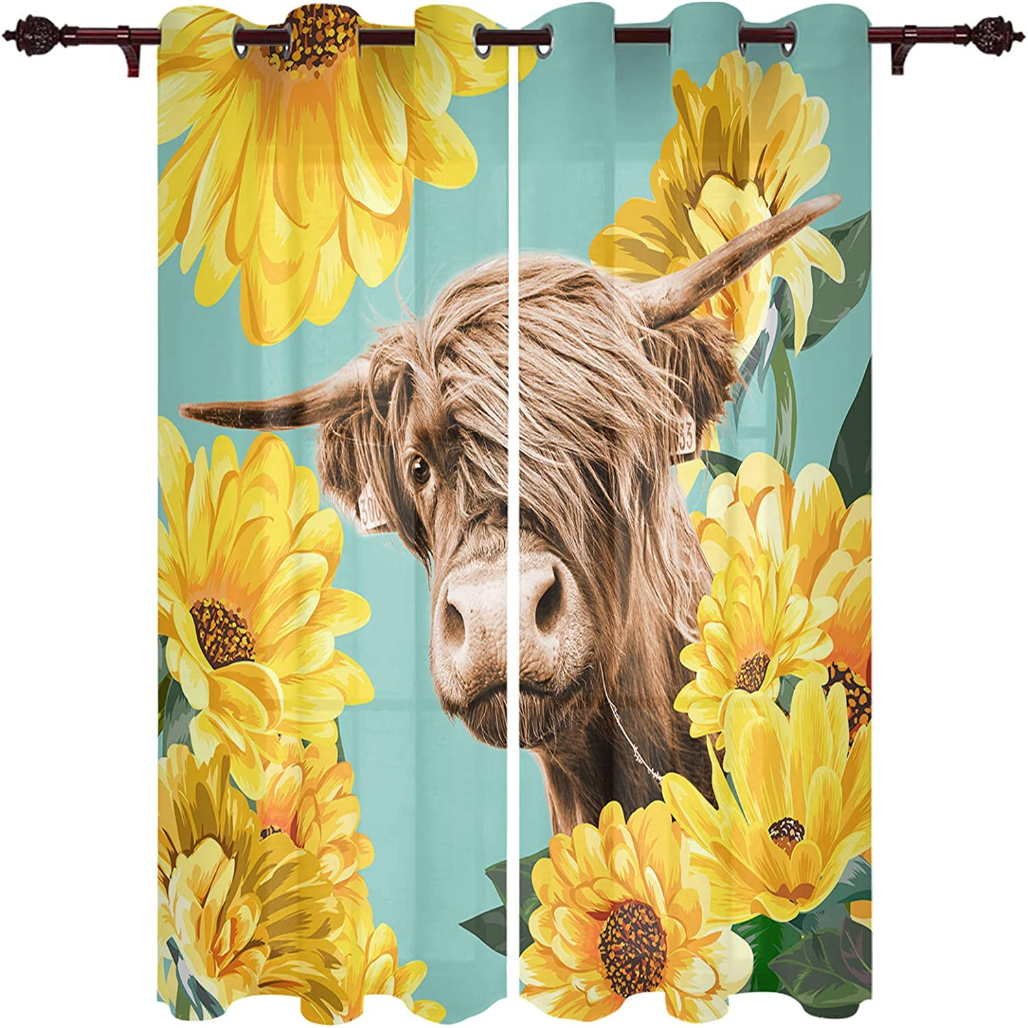 Window Curtains with Grommet shopping Top Animal Funny 55% OFF Portrait Farmhouse