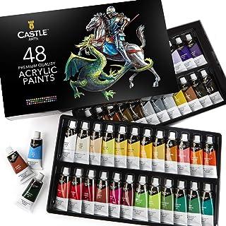 Castle Art Supplies Acrylic Paint Set - 48 Vibrant Colors wi