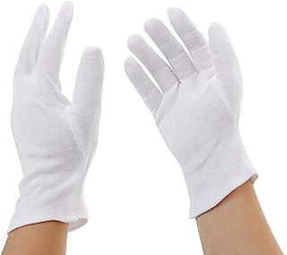 Incutex 12 pares de guantes de tela de algodón, blancos, tamaño: M