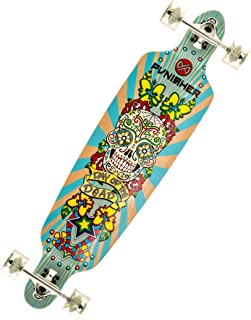 Punisher Skateboards 40-Inch Longboard Skateboard with Drop-Through Canadian Maple Concave Deck, Assorted Styles