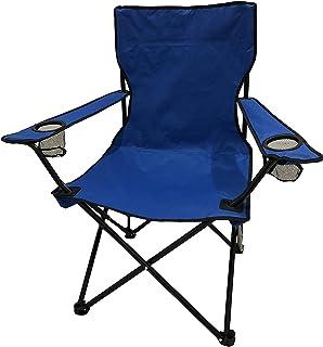 HOMECALL - Silla de camping plegable con respaldo alto y portavasos