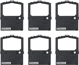 Printerfield Printer Ink Ribbon Reemplazo de Tinta de la Impresora Paquete de 6 para Oki ML182 / 390 - Negro