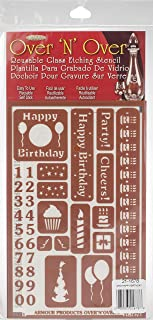 Total 5 Items 4 Armour Etch Over N Over Reusable Glass Etching Stencils Casino Theme Stencil Gamer Video Games Poker Party Set Includes Brush Playing Cards