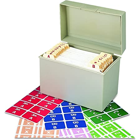 Smead AlphaZ ACCS Color-Coded Alphabetic Labels, Letters A-Z, Assorted Colors, 2200 Labels per Box (67170)